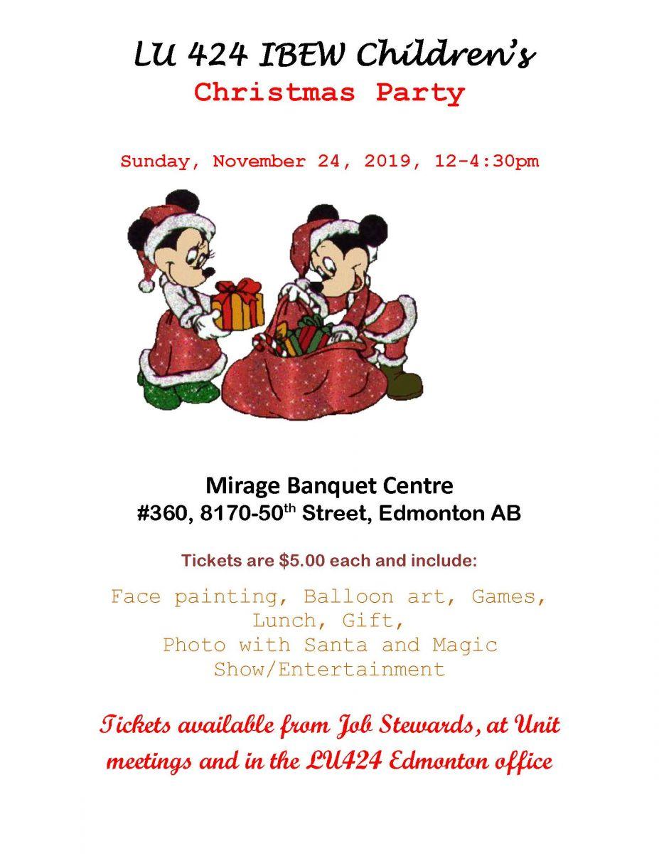 Edmonton Kids Christmas Party