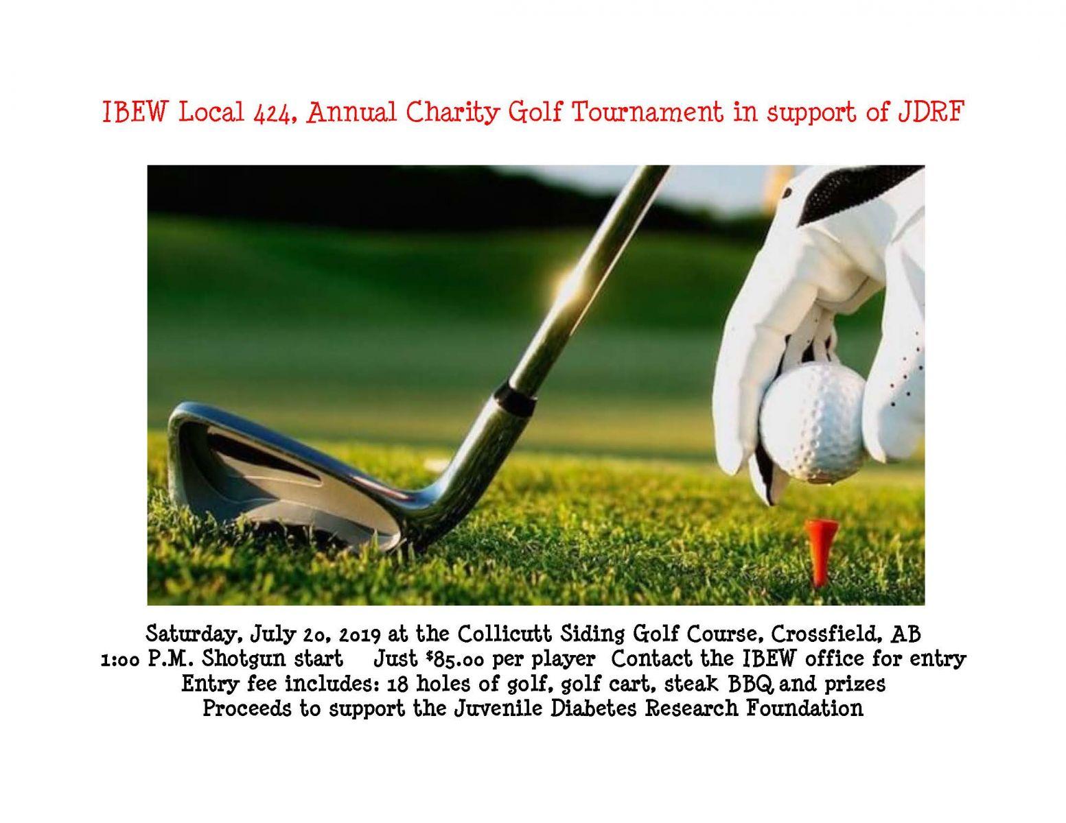 2019 Calgary Charity Golf Tourney