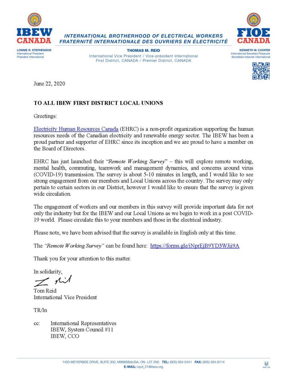 EHRC Remote Working Survey
