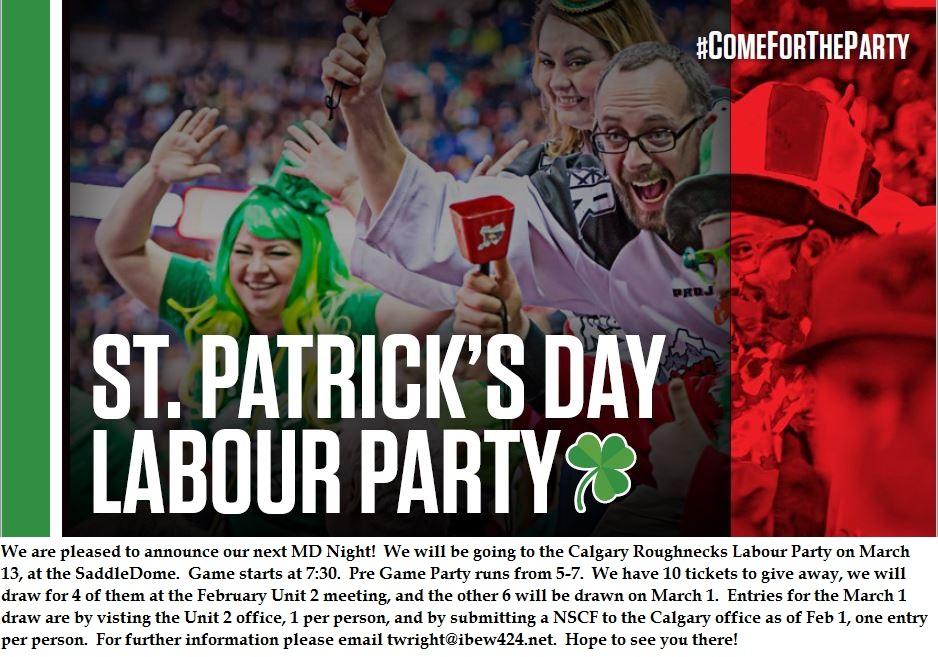 Calgary Roughnecks Labour Party